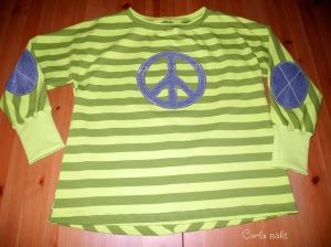 Twist it Jeans Applikation cool Peace Ellenbogen Patches