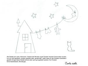 Appli-Vorlage Haus Leine Mond Katze Kopie