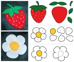 Elbpudel Erdbeere + Blume