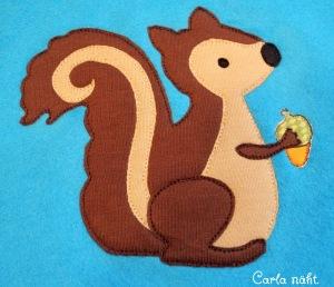 Applikation Vorlage Eichhörnchen
