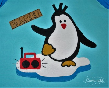 Applikation Pinguin applique penguin Zauberlehrling