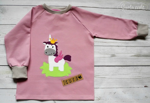 Applikation Sweetcrafts Einhorn Unicorn applique