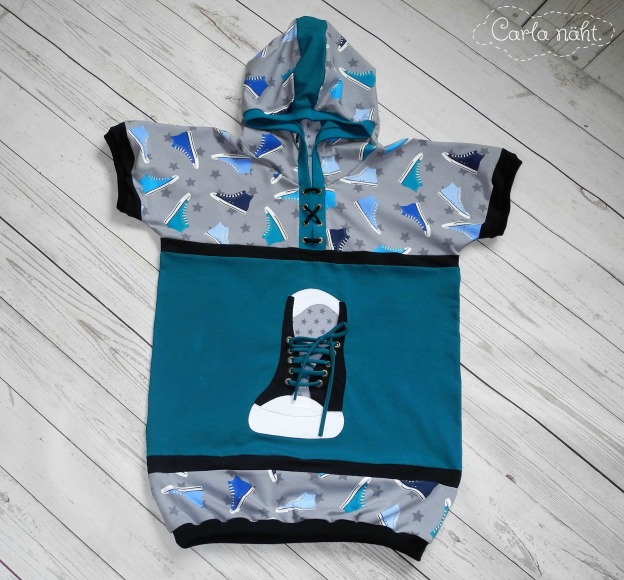 ABC-Hoodie Knuddelmonster Applikation 3D-Sneaker