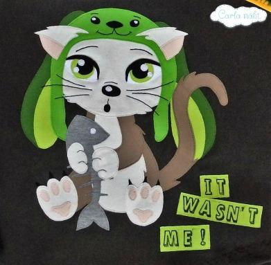 Mao Applikation Fuzzis Nähliebe Katze