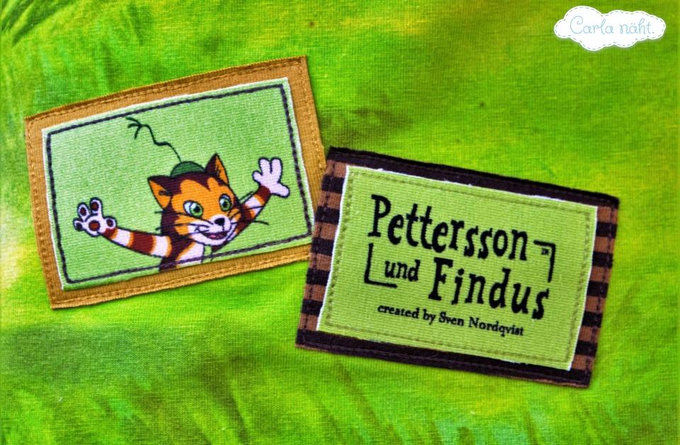 Pettersson und Findus Applikation Stoff & Liebe