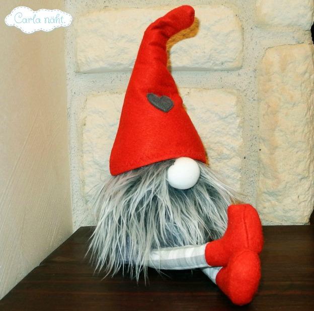 Weihnachtswichtel Schlenkerbeine Kantenhocker nähen Freebie kostenlos Schnittmuster
